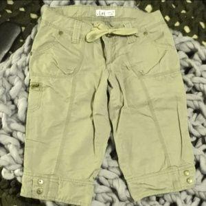 L.e.i. Sage Green Cargo Shorts Sz. 3